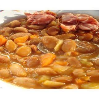 Beans With Smoked Pork Hock.
