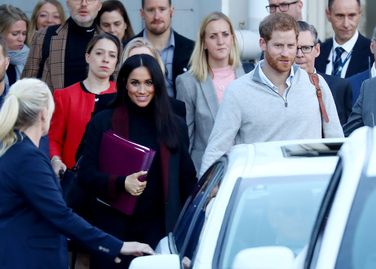 Prince Harry, Duke of Sussex, and Meghan, Duchess of Sussex, arrive at Sydney International Airport in Sydney, New South Wales, ahead of the Invictus Games. The couple are expecting their first child in Spring 2019.