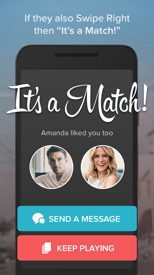 Screenshots of Tinder for Android