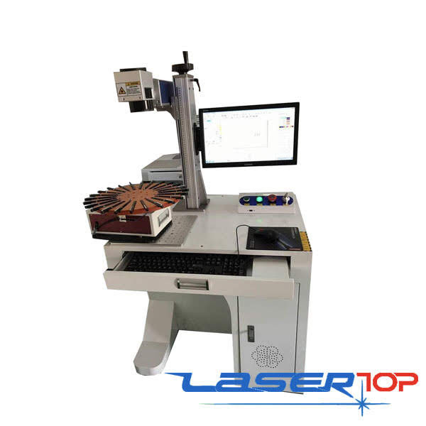 Máy Khắc Laser Fiber Bàn Xoay 20-50w