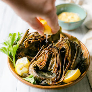 Roasted Artichokes with Curried Aioli Recipe