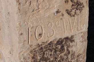 Photo: This sandstone post was erected in 1881...
