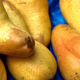 Pears #1 by Cal Brown - Food & Drink Fruits & Vegetables ( close up, pears, fruit, italy, street vendor, vernazza,  )