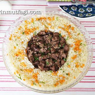 Baked Beef Stew (Tas Kebabı) With Pilaf