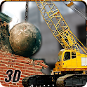 Wrecking Ball Demolition Crane icon