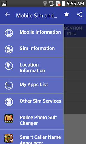 android Mobile,  SIM and Location Info Screenshot 5