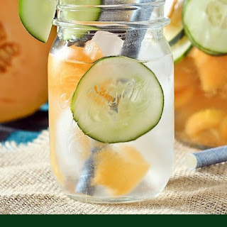 Cantaloupe and Cucumber Water