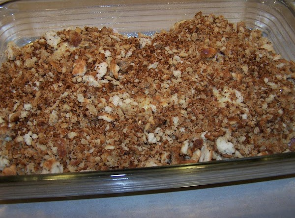 Melt the 1/4c. butter in small fry pan. Add the stuffing mix and saute...