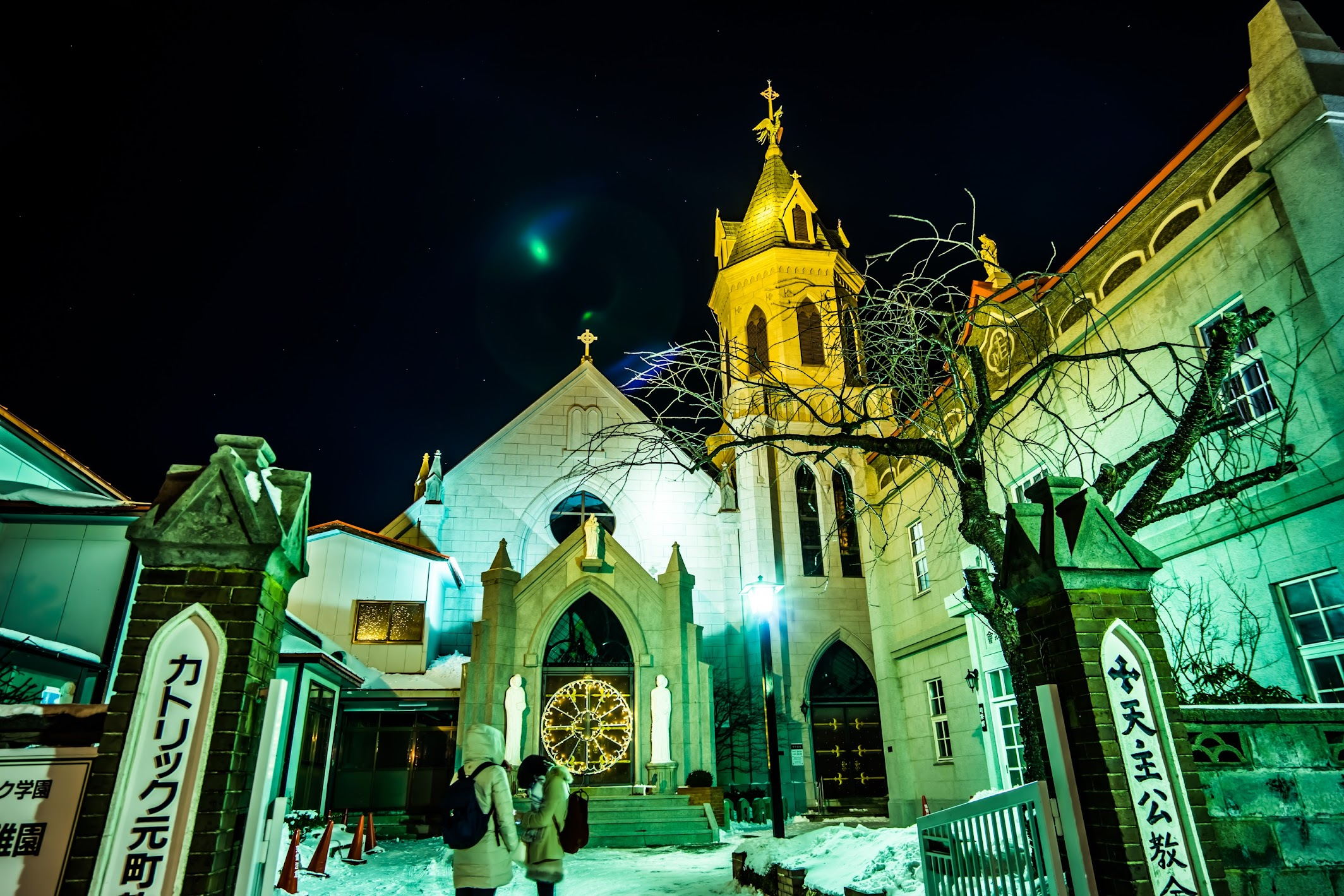 Hakodate Motomachi Roman Catholic Church light-up