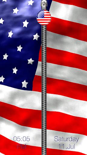 美国国旗拉链锁