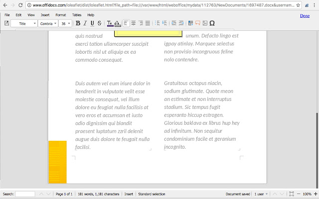 Document Editor for doc & docx
