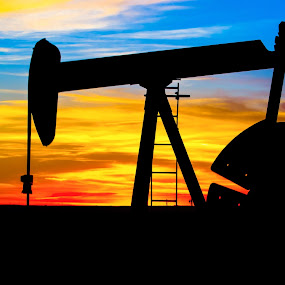 West Texas Sunset. by Craig Curlee - Landscapes Sunsets & Sunrises ( sky, silouette, sunset, oil pump, texas, pump jack )