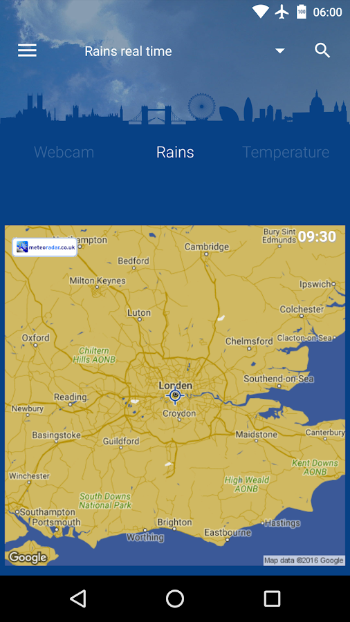 London Weather- screenshot