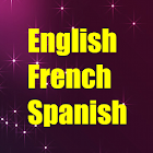 Learn English French Spanish icon