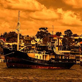 sailing boat by Vesna  Podkrajac - Transportation Boats