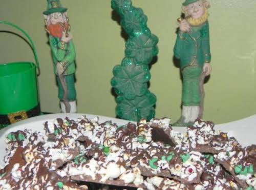 """Lucky Leprechaun Popcorn Bark """"The coconut gives a nice chewy texture, and..."""