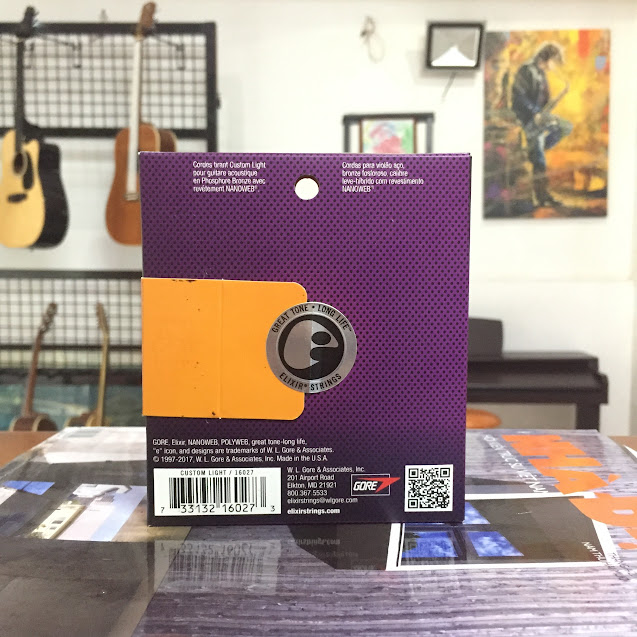 Dây Đàn Guitar Acoustic - Elixir Nanoweb Phosphor Bronze 16027