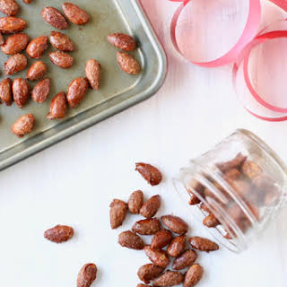 Gingerbread Glazed Almonds.