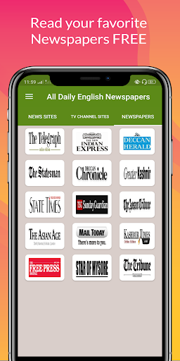 All Daily English Newspaper India in a app Epaper 16.0 screenshots 3