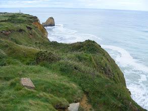 Photo: A view down the cliffs.