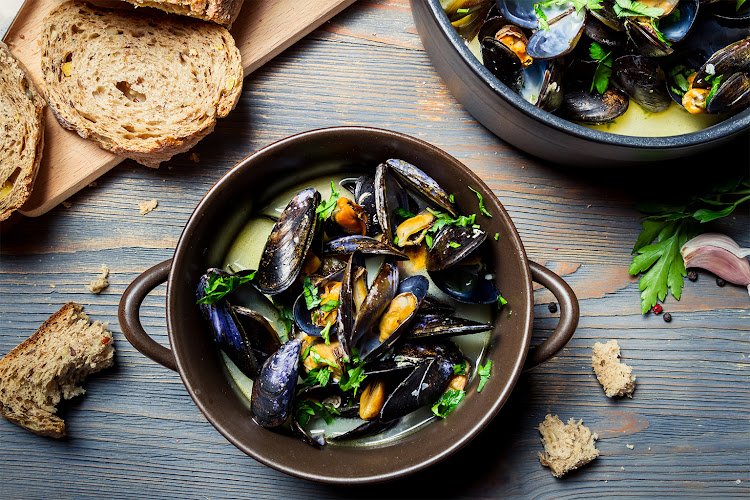 Locally sourced mussels are a green seafood choice.