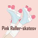 Girly Wallpaper Pink Roller-skates Theme icon