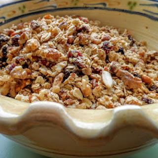 Granola with Almonds, Walnuts, Cranberries and Goji Berries.