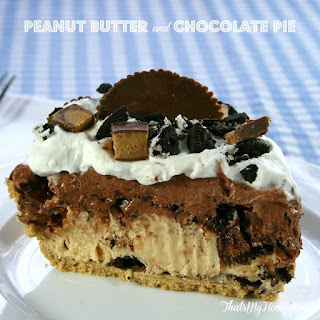 Peanut Butter Cup Chocolate Pie.