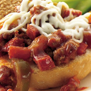 Slow-Cooker Sausage Pizza Sloppy Joes.
