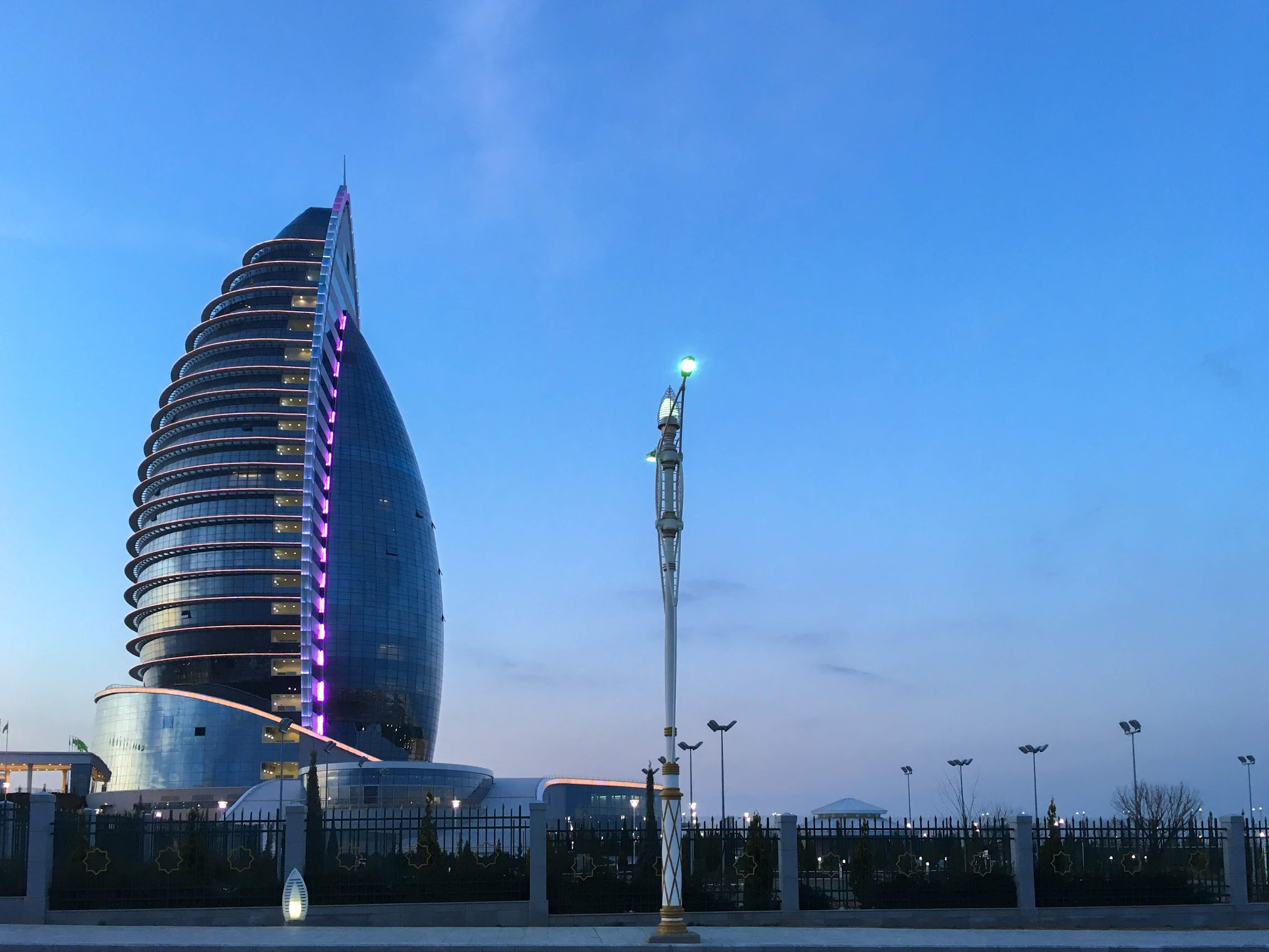 Burj Al-Arab look alike in Ashgabat