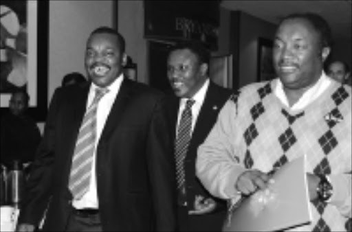 BIG GUNS: Pat Malabela, Irvin Khoza and Jomo Sono during the PSL elections in Sandton on Saturday. 08/11/08. Pic. Peter Mogaki. © Sowetan.