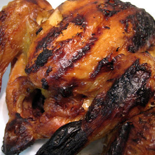 Brined and Grilled Cornish Hens.