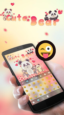 Cute Bear GO Keyboard Theme 4.178.100.84 screenshot 408076