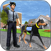 police dog criminal chase