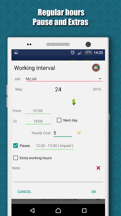 Working Hours 4b- screenshot