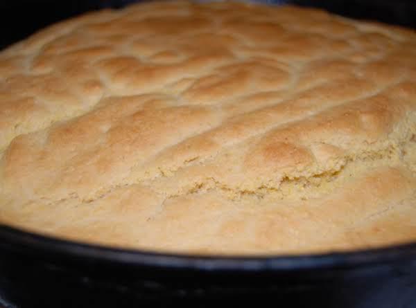 My Cornbread Baked In Castiron Skillet.