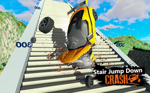 Car Crash Beam  Drive Sim: Death Stairs Jump Down 1.2 screenshots 9