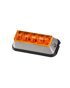 Blixtljus Orange LED med orange lins