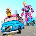 Ice Cream Robot Truck Game - Robot Transformation icon