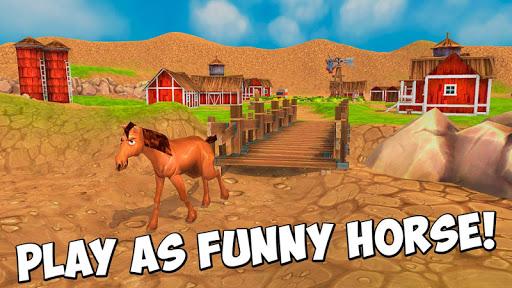 Cartoon Farm Horse Simulator