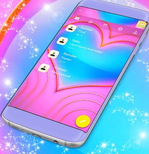 Emoji 2017 Hearts SMS téma - náhled