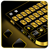 Gold Metal Business Keyboard Theme