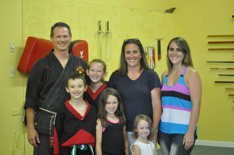 Kids karate classes, Owner Mr. Eshelman with family and karate students
