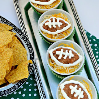 Gameday Recipe Football Bean Dip Cups