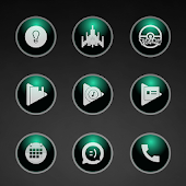 Glossy Emerald Icons