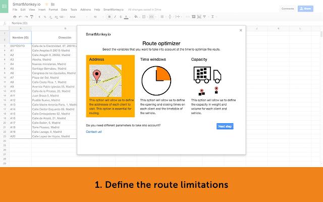 SmartMonkey io Route Optimizer for Google Spreadsheet - G Suite