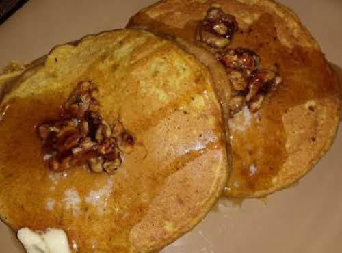 "Autumn Pancakes with Caramelized Walnuts""This is a dish my family looks forward..."