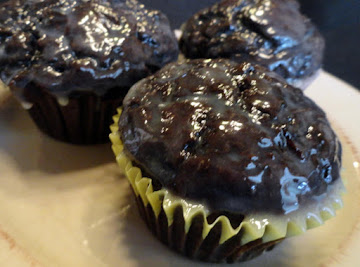 Dark Chocolate Zucchini Muffins With White Chocolate Ganache Recipe