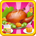 Cooking Turkey Thanksgiving icon