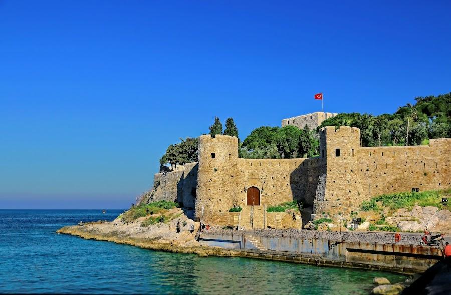 Byzantine Castle by Valentin Marinov - Buildings & Architecture Public & Historical ( kusadasi, pigeon island, castle, turkey,  )